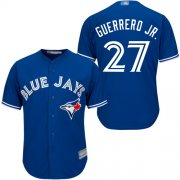 Wholesale Cheap Blue Jays #27 Vladimir Guerrero Jr. Blue New Cool Base Stitched MLB Jersey