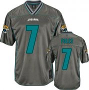 Wholesale Cheap Nike Jaguars #7 Nick Foles Grey Youth Stitched NFL Elite Vapor Jersey
