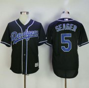Wholesale Cheap Dodgers #5 Corey Seager Black Fashion Stitched MLB Jersey
