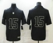 Wholesale Cheap Men's Kansas City Chiefs #15 Patrick Mahomes Black Commemorative Edition 2020 Vapor Untouchable Stitched NFL Nike Limited Jersey