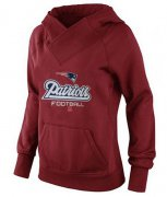 Wholesale Cheap Women's New England Patriots Big & Tall Critical Victory Pullover Hoodie Red