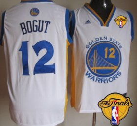 Wholesale Cheap Men\'s Golden State Warriors #12 Andrew Bogut White 2017 The NBA Finals Patch Jersey