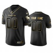 Wholesale Cheap Dolphins Custom Men's Stitched NFL Vapor Untouchable Limited Black Golden Jersey