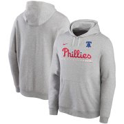 Wholesale Cheap Philadelphia Phillies Nike Color Bar Club Pullover Hoodie Gray