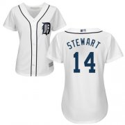 Wholesale Cheap Tigers #14 Christin Stewart White Home Women's Stitched MLB Jersey