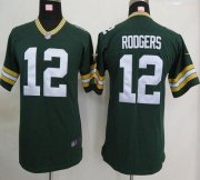 Wholesale Cheap Nike Packers #12 Aaron Rodgers Green Team Color Youth Stitched NFL Elite Jersey
