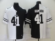 Wholesale Cheap Men's New Orleans Saints #41 Alvin Kamara White Black Peaceful Coexisting 2020 Vapor Untouchable Stitched NFL Nike Limited Jersey