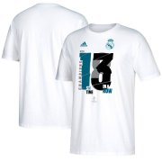 Wholesale Cheap Real Madrid adidas 2018 Champions League Champion T-Shirt White