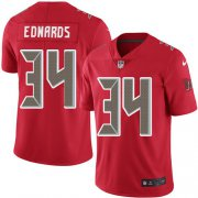 Wholesale Cheap Nike Buccaneers #34 Mike Edwards Red Men's Stitched NFL Limited Rush Jersey