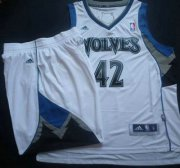 Wholesale Cheap Minnesota Timberwolves 42 Kevin Love White Revolution 30 Swingman NBA Suits