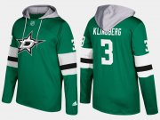 Wholesale Cheap Stars #3 John Klingberg Green Name And Number Hoodie