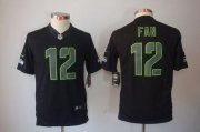 Wholesale Cheap Nike Seahawks #12 Fan Black Impact Youth Stitched NFL Limited Jersey
