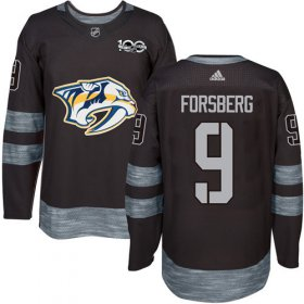 Wholesale Cheap Adidas Predators #9 Filip Forsberg Black 1917-2017 100th Anniversary Stitched NHL Jersey