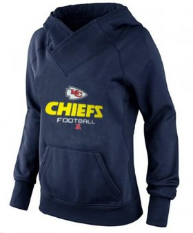 Wholesale Cheap Women\'s Kansas City Chiefs Big & Tall Critical Victory Pullover Hoodie Navy Blue