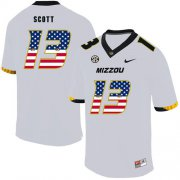 Wholesale Cheap Missouri Tigers 13 Kam Scott White USA Flag Nike College Football Jersey