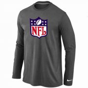 Wholesale Cheap Nike NFL Logos Long Sleeve T-Shirt Dark Grey