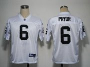 Wholesale Cheap Raiders #6 Terrelee Pryor White Stitched NFL Jersey