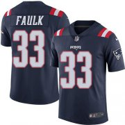 Wholesale Cheap Nike Patriots #33 Kevin Faulk Navy Blue Men's Stitched NFL Limited Rush Jersey