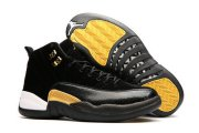 Wholesale Cheap Womens Air Jordan 12 Retro Shoes Black/Gold White