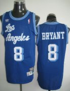 Wholesale Cheap Los Angeles Lakers #8 Kobe Bryant Blue Swingman Throwback Jersey