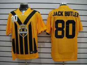 Wholesale Cheap Nike Steelers #80 Jack Butler Gold 1933s Throwback Men\'s Stitched NFL Elite Jersey
