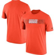 Wholesale Cheap Cleveland Browns Nike Sideline Seismic Legend Performance T-Shirt Orange