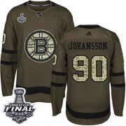 Wholesale Cheap Adidas Bruins #90 Marcus Johansson Green Salute to Service 2019 Stanley Cup Final Stitched NHL Jersey