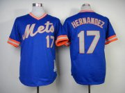 Wholesale Cheap Mitchell and Ness 1983 Mets #17 Keith Hernandez Blue Throwback Stitched MLB Jersey