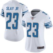 Wholesale Cheap Nike Lions #23 Darius Slay Jr White Women's Stitched NFL Vapor Untouchable Limited Jersey
