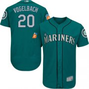 Wholesale Cheap Mariners #20 Dan Vogelbach Green Flexbase Authentic Collection Stitched MLB Jersey