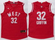 Wholesale Cheap 2015-16 NBA Western All-Stars Men's #32 Blake Griffin Revolution 30 Swingman Red Jersey