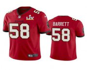 Wholesale Cheap Men's Tampa Bay Buccaneers #58 Shaquil Barrett Red 2021 Super Bowl LV Limited Stitched NFL Jersey