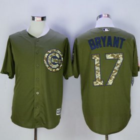 Wholesale Cheap Cubs #17 Kris Bryant Green Camo New Cool Base Stitched MLB Jersey