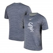 Wholesale Cheap Nike Chicago White Sox Gray Black Striped Logo Performance T-Shirt