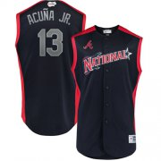 Wholesale Cheap Braves #13 Ronald Acuna Jr. Navy 2019 All-Star National League Stitched MLB Jersey
