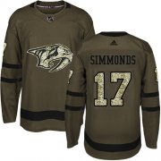 Wholesale Cheap Adidas Predators #17 Wayne Simmonds Green Salute To Service Stitched NHL Jersey
