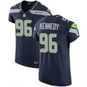 Wholesale Cheap Nike Seahawks #96 Cortez Kennedy Steel Blue Team Color Men's Stitched NFL Vapor Untouchable Elite Jersey