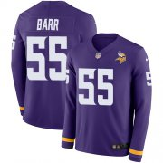 Wholesale Cheap Nike Vikings #55 Anthony Barr Purple Team Color Men's Stitched NFL Limited Therma Long Sleeve Jersey