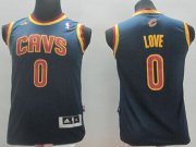 Cheap Cleveland Cavaliers #0 Kevin Love Navy Blue Kids Jersey