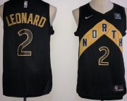 Wholesale Cheap Raptors 2 Kawhi Leonard Black City Edition Nike Swingman Jersey