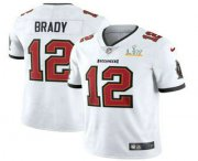 Wholesale Cheap Men's Tampa Bay Buccaneers #12 Tom Brady White 2021 Super Bowl LV Vapor Untouchable Stitched Nike Limited NFL Jersey