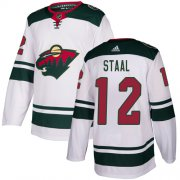 Wholesale Cheap Adidas Wild #12 Eric Staal White Road Authentic Stitched Youth NHL Jersey