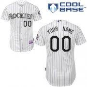 Wholesale Cheap Rockies Personalized Authentic Grey MLB Jersey (S-3XL)