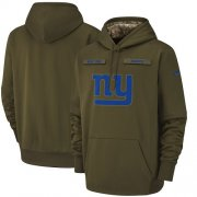 Wholesale Cheap Youth New York Giants Nike Olive Salute to Service Sideline Therma Performance Pullover Hoodie