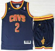 Wholesale Cheap Cleveland Cavaliers 2 Kyrie Irvin Blue Revolution 30 Swingman Jerseys Shorts NBA Suits