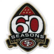 Wholesale Cheap Stitched San Francisco 49ers 60th Season Jersey Patch (2006)