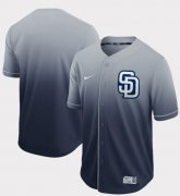 Wholesale Cheap Nike Padres Blank Navy Fade Authentic Stitched MLB Jersey
