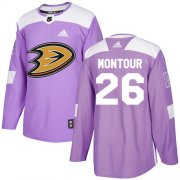 Wholesale Cheap Adidas Ducks #26 Brandon Montour Purple Authentic Fights Cancer Youth Stitched NHL Jersey