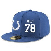 Wholesale Cheap Indianapolis Colts #78 Ryan Kelly Snapback Cap NFL Player Royal Blue with White Number Stitched Hat