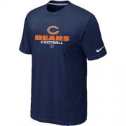 Wholesale Cheap Nike Chicago Bears Critical Victory NFL T-Shirt Midnight Blue